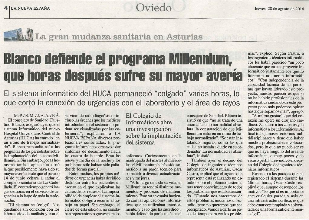 La Nueva España, 28/8/2014