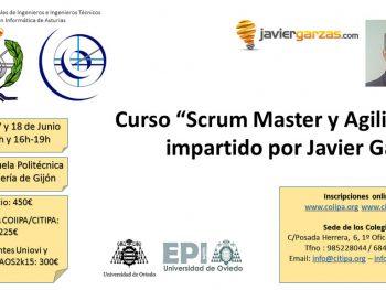 """Cartel curso """"Scrum Master y Agilidad"""""""