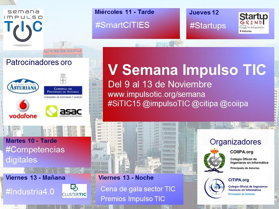 Cartel Semana de Impulso TIC 2015 #SiTIC15