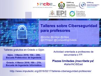 Cartel Talleres Ciberseguridad Profesores 2016